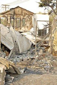 wild fires 5-16-2014 San Diego house burnt
