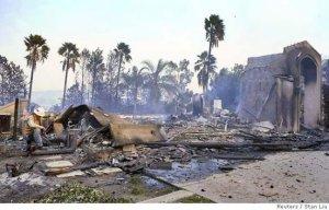 wild fires mansion home burnt 5-16-2014 San Diego
