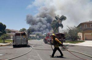 wildfire San Diego Cal. 5-14-2014 upsale homes burn