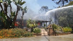 wildfire San Diego Cal. 5-14-20`4 home burns