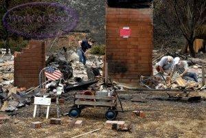 wildfires San Diego Cal_5-16-14- house burns