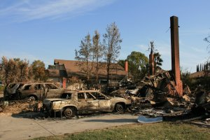 Wildfires_ San Diego Cal-5-16-2014 house burnt