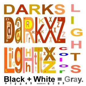 Darkxz - Lightxz - Grayxz - Color codes