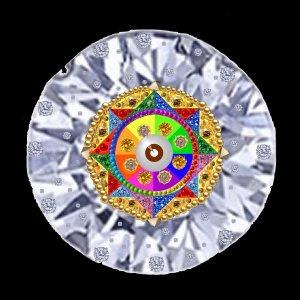 Diamons Crystal Eye of SUNGOD_black