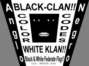 black white flag_perspective vertical